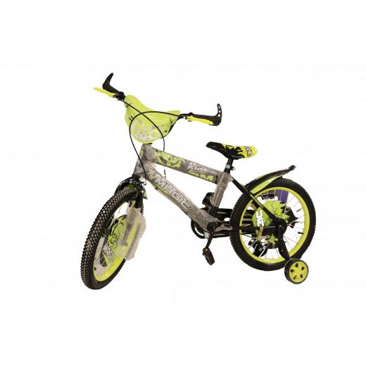 دراجة أطفال ستانلس ستيل 18 بوصة من ماجيك، أصفر وأسود