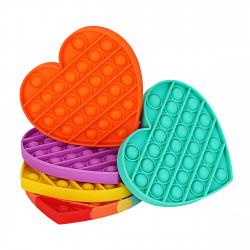 ألعاب تخفيف التوتر بمستشعرات الفقاعات المرحة بتصميم قلب بوب إت فيدجيت من شاكل & رور, ألوان عشوائية