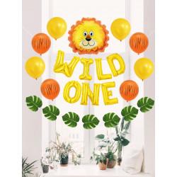 42pcs Cartoon Lion Birthday Balloon Set