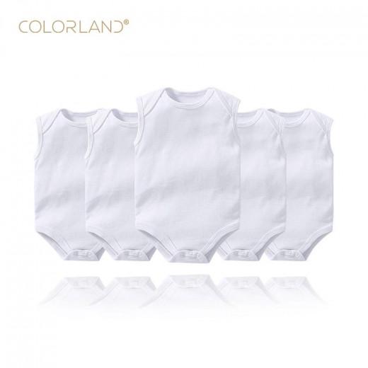 كولورلاند - بدلة أطفال 5 قطع في عبوة واحدة ، 12 أشهر ، أبيض