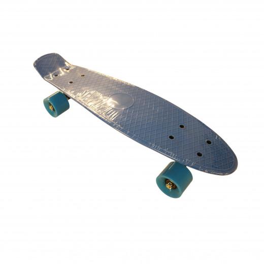 لوح تزلج مزدوج للاطفال والمبتدئين ، أزرق، 55 سم