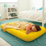 مرتبة هوائية مريحة للأطفال ، للأعمار من 3 إلى 10 من انتكس ، ألوان مختلفة - 88 سم × 157 سم × 18 سم- أصفر