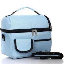 حقيبة غداء مبردة مناسبة وحقيبة منعشة للعزل - أزرق فاتح