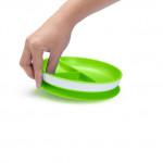 طبق مقسم ديناميكي للأطفال (أخضر) من منشكين