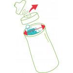 مطرة ماء من مابيد بيكنيك , باللون زهري, 580 مل