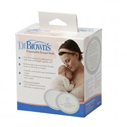 Dr. Brown's Disposable Breast Pads - 30 Pieces